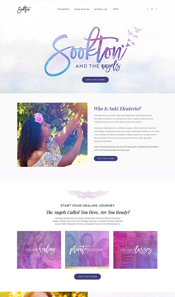 angel-healing-website-design